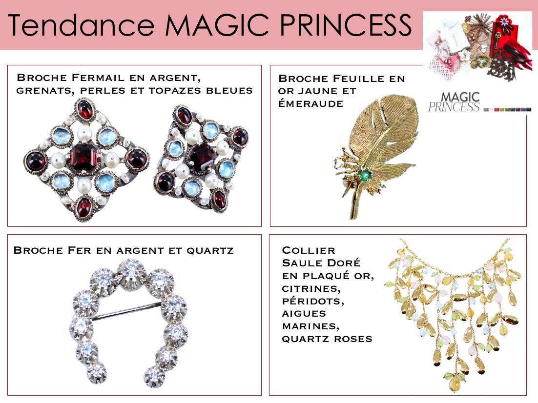 Des broches travaillées pour la Magic princess