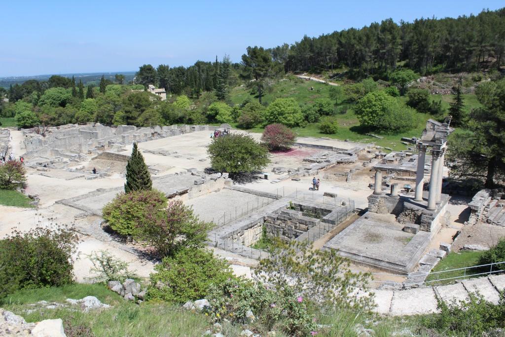 Vua panoramique de la cité de Glanum sur le plateau des Antiques à proximité de Saint Remy de Provence
